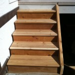Cedar Stairs with Full Stringer
