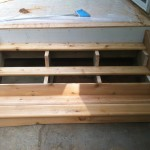 Treated Hemlock Frame with Full Cedar Treads and Stringers